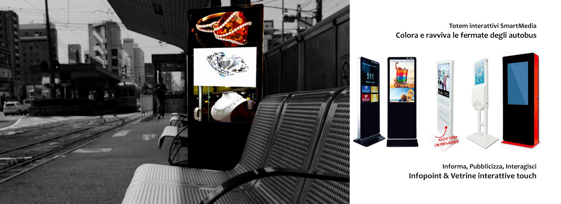 Colora e ravviva le fermate degli autobus con i totem interattvi SmartMedia, in ottica SmartCity