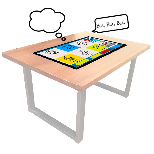 Interactive Wood Water-Proof Table